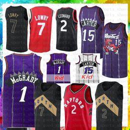 d4fc82cfc Toronto Raptors 15 Vince Carter 1 Tracy McGrady Basketball Jersey 7 Kyle  Lowry Mens youth Jersey Mesh Retro 2018-2019 New The City Black