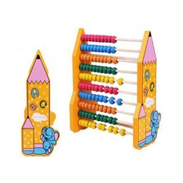 Wholesale Wood Toy Patterns - Cartoon Colorful Bead Wooden Abacus Child Educationnal Calculate Count Numbers Math Learning Tool Pencil Pattern Abacus Frame Wooden Toys
