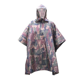 Wholesale Backpack Raincoats - Wholesale- LUCKSTONE Waterproof Tent Camping windproof poncho tarp new Outdoor Raincoat sun shelter Travel Rain Poncho Backpack Rain Cover
