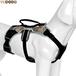 Wholesale Quick Control - Professional Nylon Large Dog Training Vest Harness Outdoor Safety Reflective Pet Chest Strap Adjustable Quick Control Harnesses