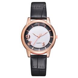 Женские кожаные наручные часы онлайн-Women Fashion Leisure Set Auger Leather Stainless Steel Quartz Wristwatch  Ladies dress watch female bracelet watches #xqx