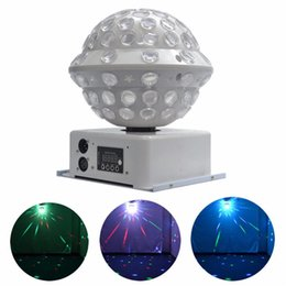 sound equipment wholesalers Promo Codes - DJ Stage & Studio Special Lighting Effects RGB Color Changing 360 Rotating LED Magic Lights System Equipment Disco Ball