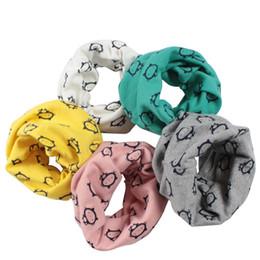 Wholesale little girls scarfs - Baby Children Boys Girls Winter Warm Little Cat O-Ring Collar Cotton Neck Scarf F05