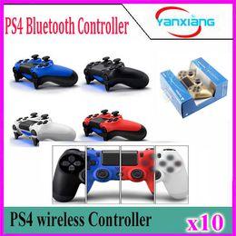 Jeu vidéo ps4 en Ligne-Contrôleur de jeu sans fil Bluetooth pour contrôleur de jeu PS4 Gamepad Joystick pour jeux vidéo Android avec boîte de détail 10pcs YX-PS-O4