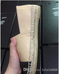 Wholesale Espadrille Canvas Shoes - High quality Brand designer espadrilles genuine leather Thick soles canvas shoes women's Platform shoes fashion flats shoes Plus Size35-42