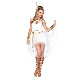 2019 costumi egiziani Abito sexy in pizzo bianco Costume di Cleopatra egiziano Donna Cleopatra Abito da dea greca greca Abito da fancy medievale costumi egiziani economici
