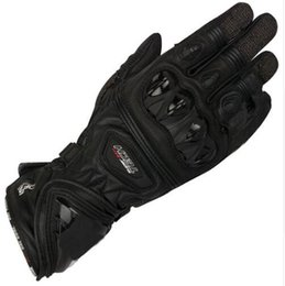 Wholesale mens gloves xl - Free shipping 2018 Mens GP Pro Supertech Black White Red Motorcycle Leather Gloves Racing Glvoes Motorbike Cowhide Gloves