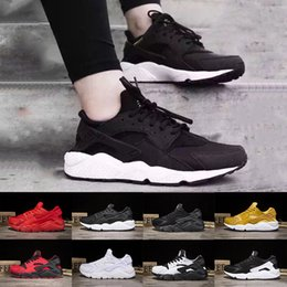 Wholesale Shoes Royal - 2018 Huarache 1.0 running shoes Triple white black red Huraches 4.0 IV gold grey Running trainers men women outdoors Huaraches sneakers