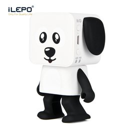 Wholesale Usb Stereo Audio - Mini Dancing Bluetooth Speaker Smart Robot Dog Speakers Portable Bluetooth Super Bass Stereo Loudspeaker Creative Gift Toys