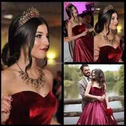 2019 veludo de veludo vermelho 2019 vestidos de baile de finalistas vestidos de fiesta real imagem querida borgonha vinho tinto veludo vestidos de baile vestidos longos formais desconto veludo de veludo vermelho