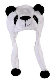Sombrero de panda de invierno online-Sombrero de animal con bufanda de piel sintética KTFGS Sombrero de invierno - Panda
