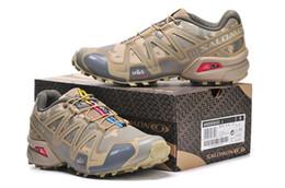 Wholesale Crossing Man - Salomon Speed cross 3 CS III Camo Yellow Men Outdoor Crosspeed 3 Running shoes sneakers