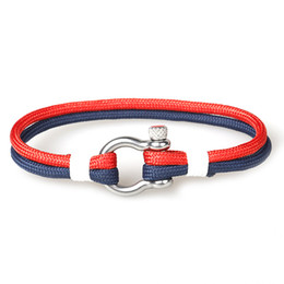 Vente chaude de Haute Qualité Hommes À La Main 550 Paracord Bracelet Cool Armée Cordon Camouflage Corde En Acier Inoxydable Boucle Bracelet ? partir de fabricateur