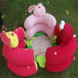 Sedersi gonfiabili online-Blue Blossom Farm Sit Accogliente Tappetino per il gioco del bambino Multifunzione Monkey Rabbit Nest Infant Sedile Tappeti Divano Gonfiabile Kid Toy 28cs ff