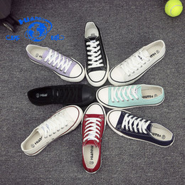 Wholesale Global Rubber - Global canvas shoes in the spring of 2018 new female students all-match white shoes female Korean flat casual shoes