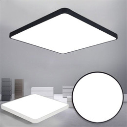 Wholesale led panel remote - LED Ceiling Light Modern Lamp Living Room Lighting Fixture Bedroom Kitchen Surface Mount Flush Ultra-thin LED Panel Light Black White
