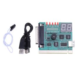 diagnóstico do analisador de pc Desconto Nova chegada 1 pc PCI USB Motherboard PC Analyzer Analisador de Diagnóstico POST Card com Cabo de Conexão USB para PC Notebook