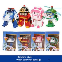 Wholesale transformer toy wholesale - 4 Models Deformation Car Poli Robocar Bubble toys South Korea Poli robot transformer Car Helly Amber Roy ABS Material With pack