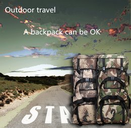 Wholesale Mountaineering Rucksack - Outdoor mountaineering bag male 70L large capacity camouflage double shoulder bag backpacking Army fan camp rucksack.