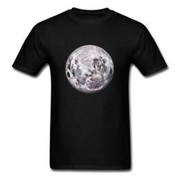Wholesale Purple Planet - Cosmic Moon Printed On Men's Black T-shirt High Quality No Fade Planet Tops Short Sleeve Tees Custom Birthday Gift Shirts
