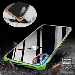 Wholesale Protect Cell Phone - Super Multicolor Anti-knock Soft TPU Transparent Clear Cell Phone Case Protect Cover Antiskid Cases Protector For iPhone 6 6 7 8 plus X