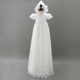 vestiti di estate bianchi lunghi delle ragazze dei bambini Sconti Da 3 a 12 mesi Baby Girls ricami lunghi in pizzo, abiti strass estate, abbigliamento bambino boutique bianco, R1AM710DS-13