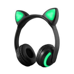 Argentina Auriculares plegables con luz LED para el oído del gato que brillan intensamente y que brillan intensamente con luz LED para celular iPhone 7 6S MP3 S9 Suministro