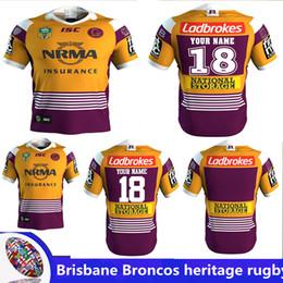 Wholesale Broncos Jerseys - 2018 NRL JERSEYS BRISBANE BRONCOS heritage Rugby NRL National Rugby League Brisbane Home Rugby jersey broncos shirts size S - 3XL(Can print)