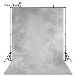 Wholesale gray canvas painting - NeoBack Vinyl Cloth Misty Grey Tone Portrait Photo backgrounds Top Popular Light Gray Studio Photographic Backgrounds P1037