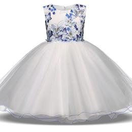 Wholesale Children Dance Images - Flower children wedding dress lace performance dance Pengpeng skirt flower dress