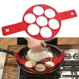 Wholesale Ring Maker - New Fashion Nonstick Pancake Maker Egg Ring Maker Perfect Pancakes Easy Silicone Egg Pancake Mold Egg Tools Kitchen Tools