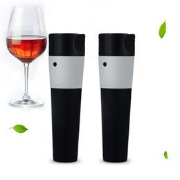 Pumpstangen online-Sicherheitsvakuum Wein Saver Kunststoff Versiegeln Luftpumpe Schwarz Für Home Bar Flaschenverschluss Neue Ankunft 2 6bf B