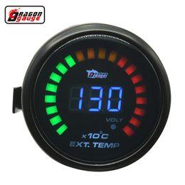 Misura 52mm online-Dragon Gauge 52mm Digital 20 LCD auto misuratore di temperatura del gas di scarico e la modifica del calibro di volt EXT temp meter