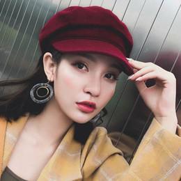 2018 Fashion Winter and Autumn Ladies Hat Women Hats Corduroy Caps Europe  and America Retro Flat Top Casual Wild Octagonal Cap. Supplier  yongq 672cc6310c6c