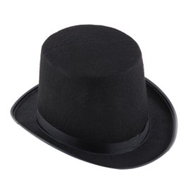 Event & Party Hats Black Halloween Magician Magic Hat Jazz Hat Hybrid fiber Pre-Curved Visor #2007071 от