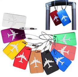 2019 чёрная стоковая бумага Новые 9 цветов алюминиевого сплава путешествия багажные бирки самолет путешествия чемодан этикетки авиакомпании багажные бирки DA504