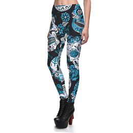 Leggings de tamanho mais tamanho on-line-Moda Cor Crânio Grande Ms. Leggings Mulheres Dia Das Bruxas de Alta Qualidade Respirável Suor-Absorvente Yoga Leggings Plus Size 4XL Novo