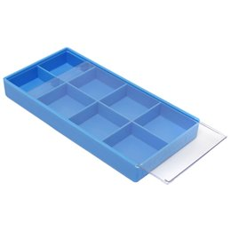 Wholesale wholesale screw box - Practical Box Case Container Storage For Tiny Jewelry Watch Fitting Screws blue: size: 19.5x9.5x2.3cm