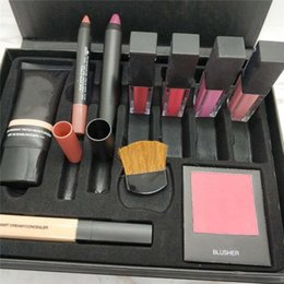 Wholesale concealer lipstick - New Brand SARAH MOON makeup high quality persistent cosmetic sets 10 in 1 makeup big box blush concealer lipstick lip pen brush free ship
