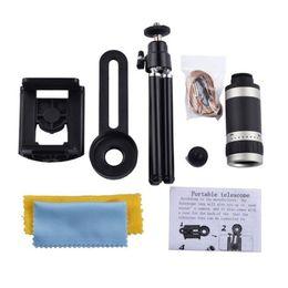 Trípode iphone telescopio online-Teléfono celular universal con lente 8X Zoom Telescopio Teleobjetivo para iPhone HuaWei Samsung HTC LG Moto Trípode