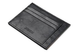 Wholesale Korean Retro Dress - Hot Selling 2 Color Fashion Casual College Style Retro Mini PU Leather Men And Women Wallet High Quality Design Thin Credit Card Gift Wallet