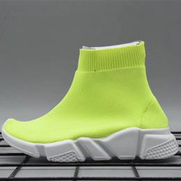 Tricoté chaussette coureur tricot enfants vitesse formateurs mi-haut chaussures de course ? partir de fabricateur