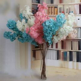 Wholesale photo simulation - Artificial Flowers Sakura Multi Color Simulation Flower Birthday Wedding Party Decoration Photography Take Photo Prop 5 5ty C