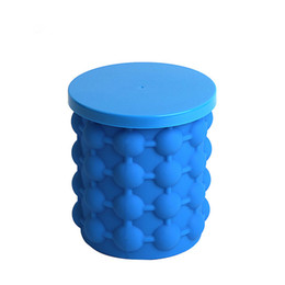 Wholesale Wholesale Bar Ice Buckets - Silicone Ice Cube Maker Genie Silicone Ice Cuber Maker Mold Cube Space Saving Kitchen Tools Bar Ice Buckets with Retail Box