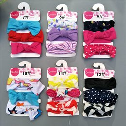 3PCS SET INS Baby Infant Top Knot Headband Flower Dot Headwraps Cute Girls  Turban Bunny Head band Baby Hair Accessories 759ef182fa1d