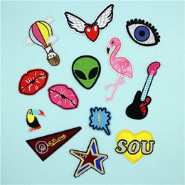 Wholesale rock patches - Embroidered Patches Rock DIY 3D Patches for Clothing Repair Sew On Patches for Clothing Backpacks Jeans Caps Shoes etc Hook Patch