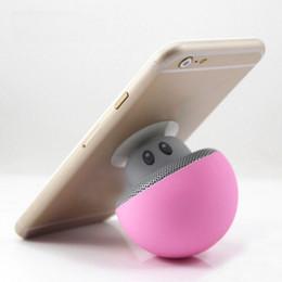 Wholesale Mini Wireless Mushroom Speakers - 2018 Mushroom Bluetooth Speaker Car Speakers with Sucker Mini Portable Wireless Handsfree Subwoofer
