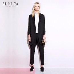 2ac5c7f9d41 Black Work Wear Women Office Trajes de negocios Pantalones 2 piezas Juegos  de damas Trajes formales de oficina Uniforme de oficina Estilos Slim Fit  Blazers ...