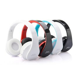 Mikrofoneffekte online-Hohe Qualität NX-8252 Faltbare Drahtlose Bluetooth Kopfhörer Super Stereo Bass Effekt Tragbare Headset Sport Headset Mit Mikrofon 4FARBEN