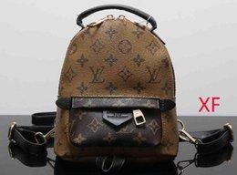 Wholesale school bags handbags - Europe Luxury brand women bag Famous designers handbags PU backpack women's school bag 4 color backpacks brands